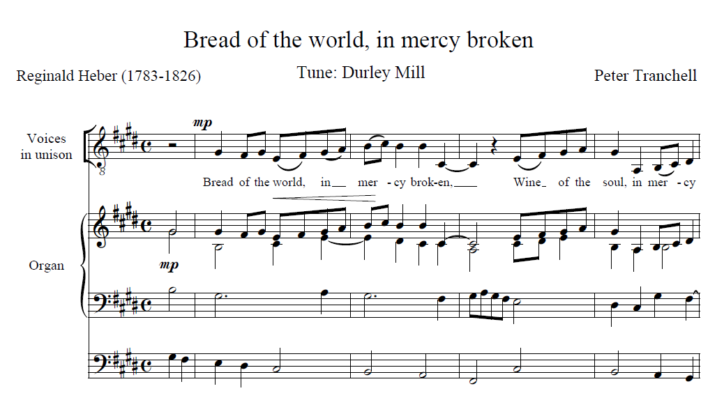Bread of the world in mercy broken - preview of the score