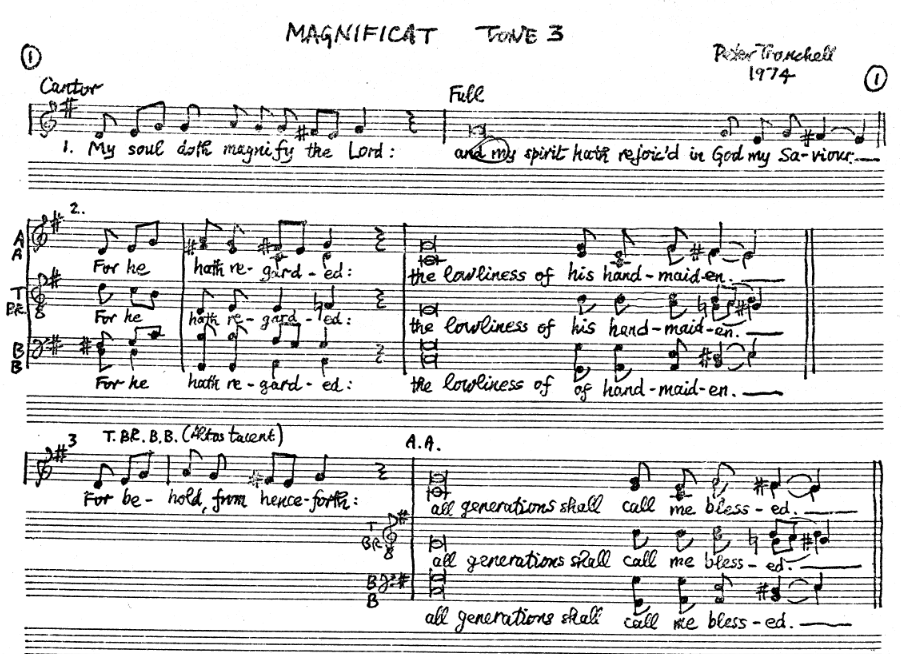 Tranchell Magnificat Tone 3 preview