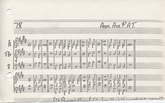 Anglican double chant 7B from Caius Psalter, Anon arr. Peter Tranchell