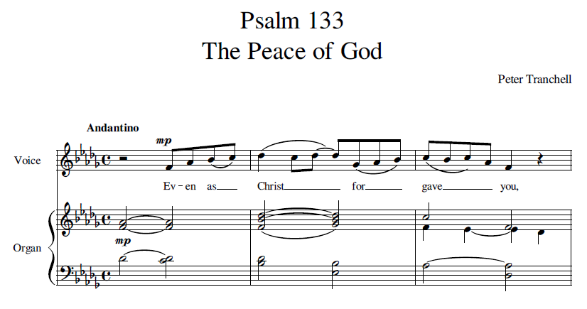 Tranchell Psalm 133