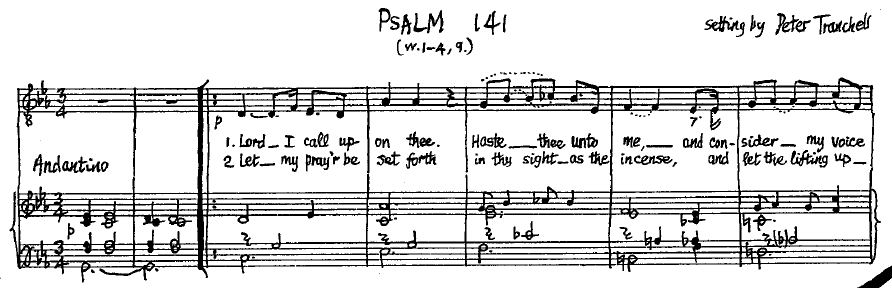 Image from original Tranchell MS for Psalm 141