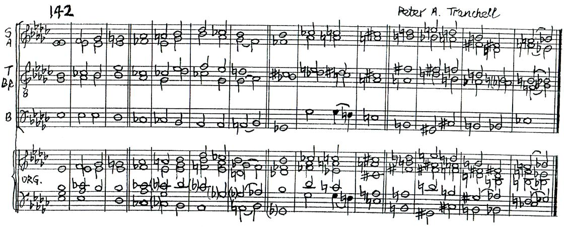 Peter Tranchell Psalm 142 double chant in E flat minor