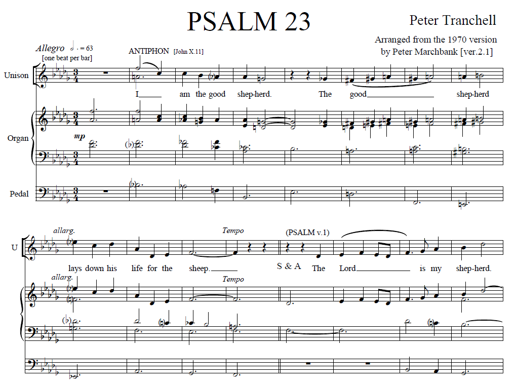 Tranchell Psalm 23