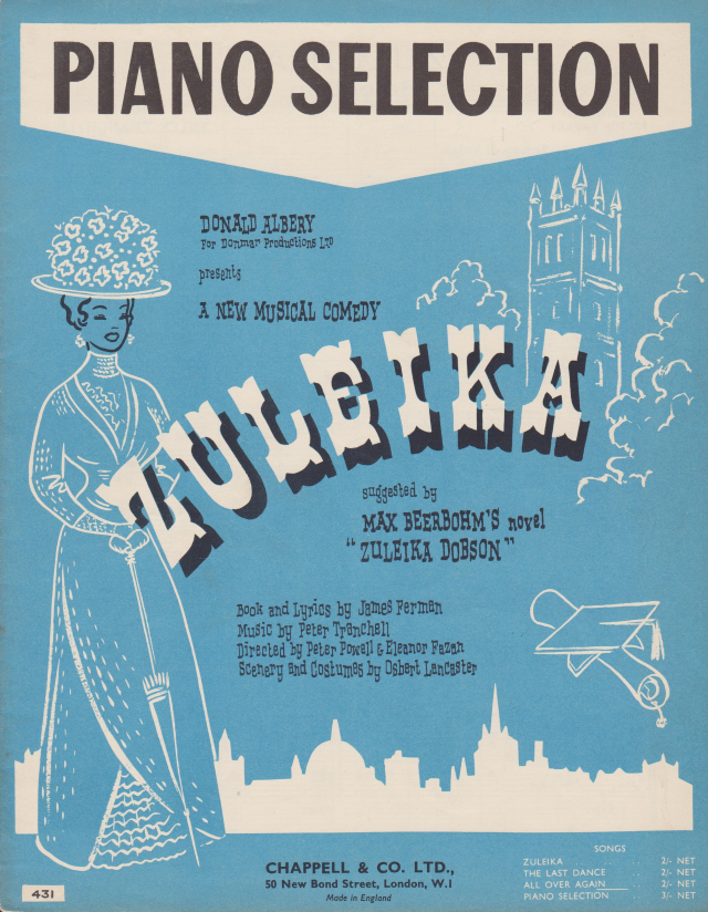 Cover of Chappell and Co Tranchell Zuleika Piano Selection arr. Felton Rapley