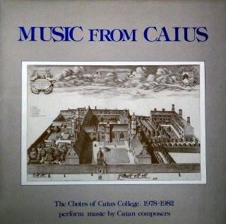 Music from Caius LP front cover, 1985