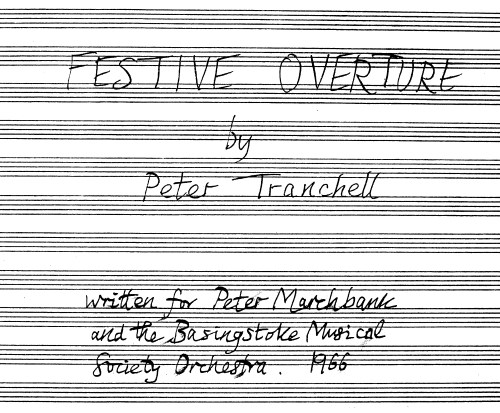 Tranchell Festive Overture Cover