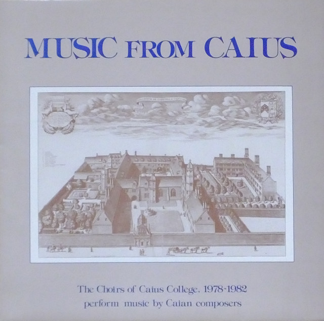 Music from Caius LP 1985 sleeve front,