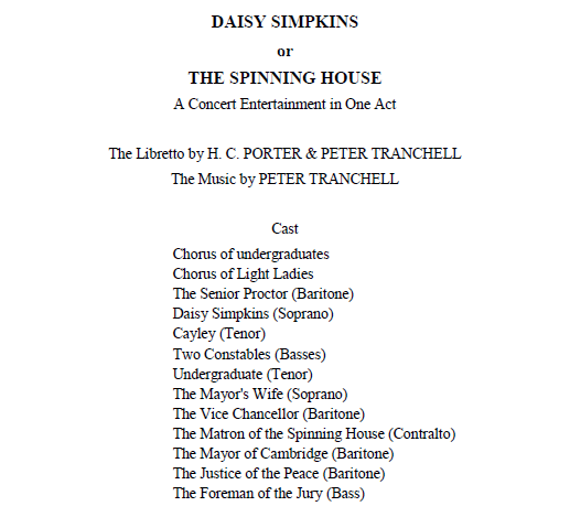 preview of the libretto of Tranchell Daisy Simpkins